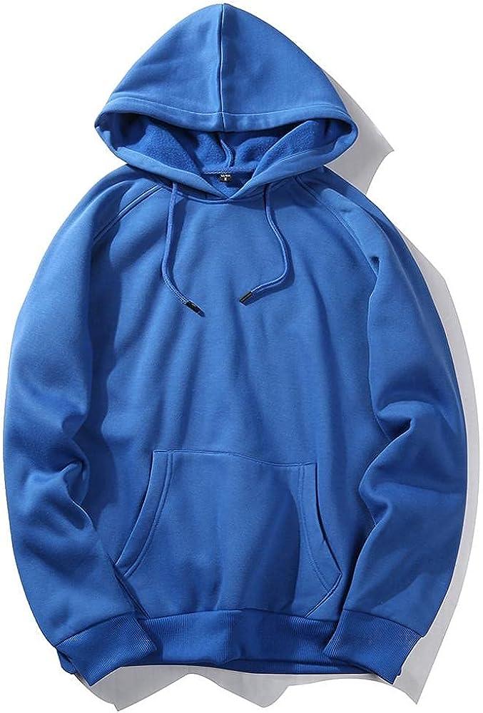 Aayomet Men's Pullover Hoodies Solid Long Sleeve Hooded Sweatshirts Casual Workout Sport Sweaters Blouses Tops