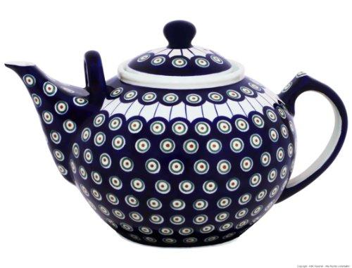 Original Bunzlauer Keramik - sehr große Teekanne/Kaffeekanne - 2.9 Liter mit zweitem Henkel im Dekor 8