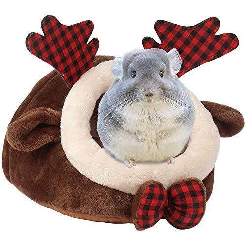 URIJK, cuccia per piccoli animali, calda peluche, cotone, cuccia per animali domestici, accessorio per porcellini d'India, conigli, criceti, ratti, gabbia (XL, alce)
