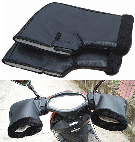 Moyishi Pair Waterproof Motorcycle Grip Handlebar Muff Winter Warmer Thermal Cover Glove