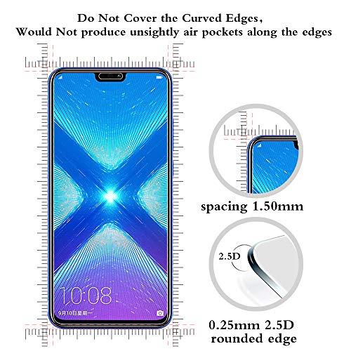 ANEWSIR Schutzfolie für Huawei Honor 8X Displayschutzfolie [2 Stück] , HD Displayschutzfolie, 9H Härte Schutzfolie, [Anti-Kratzer/Bläschen/Fingerabdruck/Staub] Displayschutz Folie für Honor 8X - 2