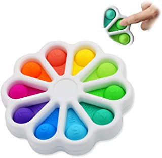 Flower Push Pop It Pop Bubble Fidget Toys, Early Simple Dimple Educational Toy for Anxiety Color Recognition Educational T...