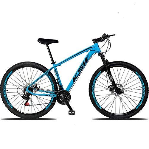 Bicicleta Aro 29 KSW Xlt Alumínio 21 Marchas Câmbios Importados Freio a Disco