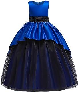 YGCLOTHES Vestidos Princesa Niñas, Vestido Noche con Forma Túnica Malla Negra para Niñas De Flores,Vestido Fiesta Regalos ...