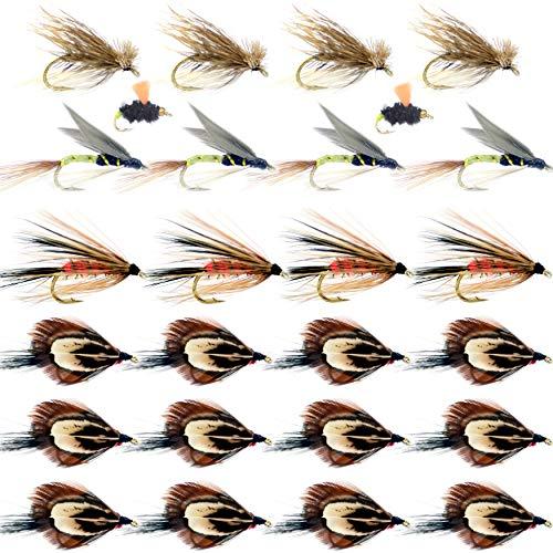YAZHIDA Fly Fishing Flies Kit Fly Assortment Trout Bass Lure Set