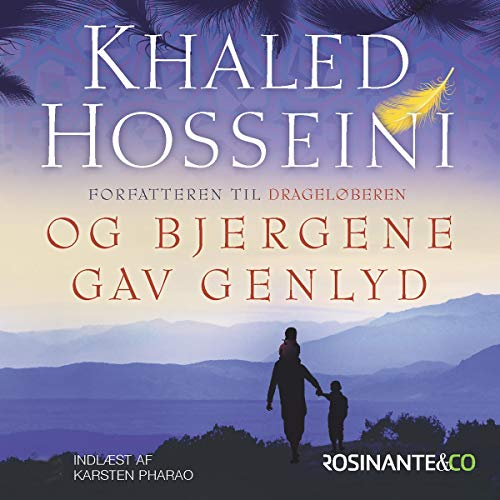 Og bjergene gav genlyd audiobook cover art