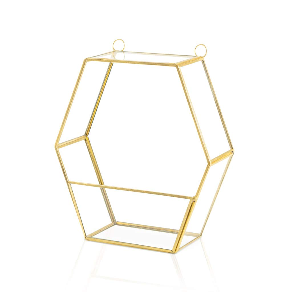 Estanteria Pared Metal Vintage Dorada Hexagonal – Estante de ...