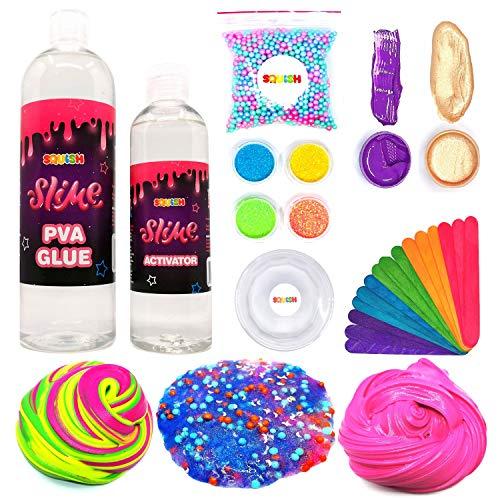 Squish Slime Rainbow Schleim Set Zum Selber Machen Ideal Für Geschenk für Mädchen Und Jungen DIY Kreativ