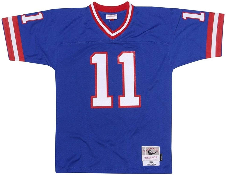 Mitchell & Ness Phil Simms  11 New York Giants Legacy Throwback NFL Trikot Blau, XXL B07HY2HPKR  Preisrotuktion