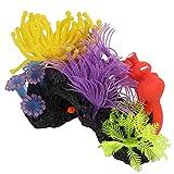 Plantas De Pecera De Coral Artificial con Efecto Brillante, Plantas De Paisaje De Simulación De Plástico Blando Artificial, Decoración De Pecera