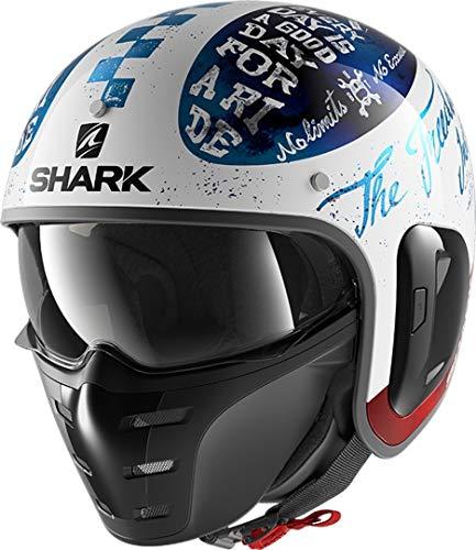 Shark Motorradhelm S-DRAK 2 TRIPP IN WBR, Weiss/Blau, M