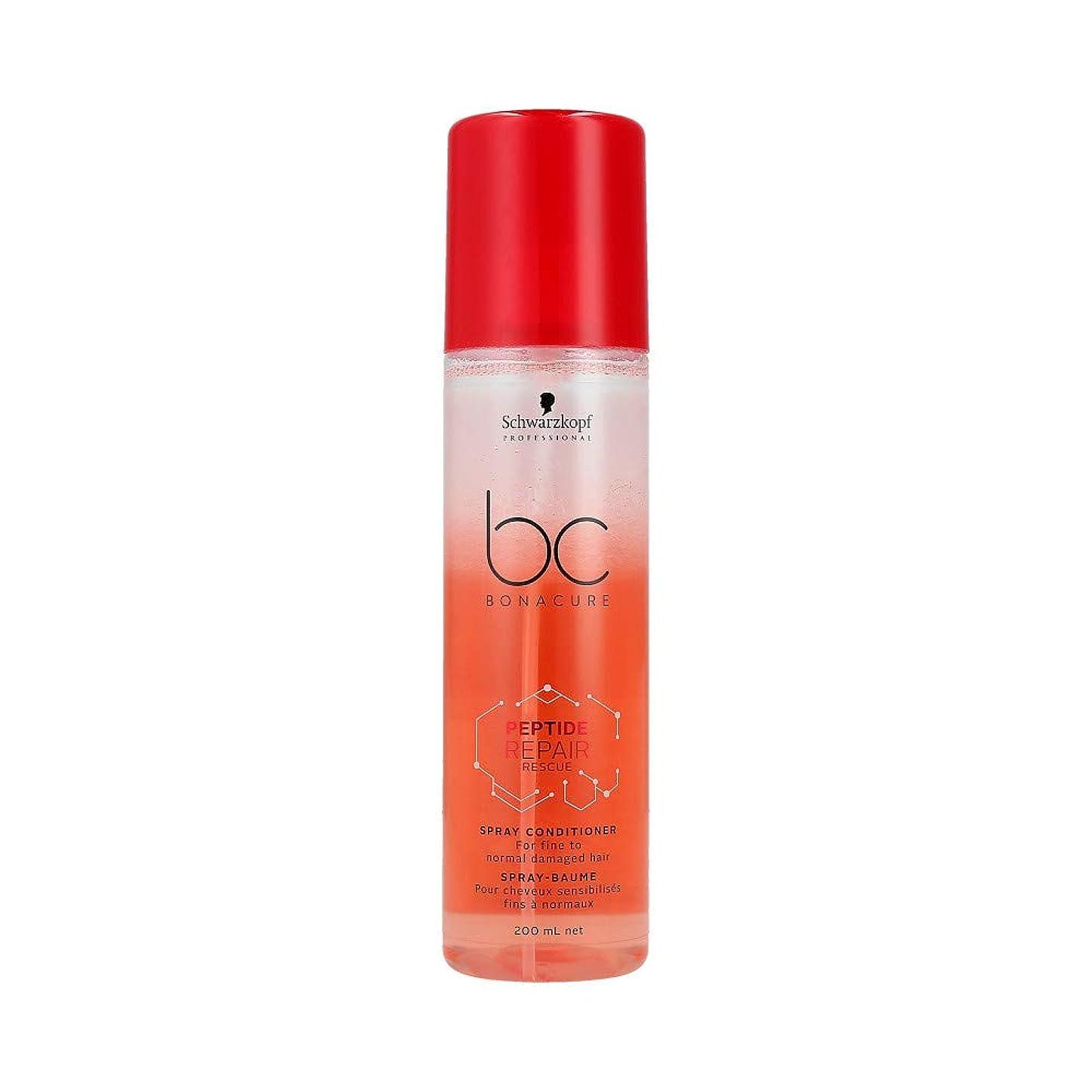 体操選手電話に出る君主シュワルツコフ BC ペプチド リペア レスキュー スプレー コンディショナー Schwarzkopf BC Bonacure Peptide Repair Rescue Spray Conditioner For Fine To Normal Damaged Hair 200 ml [並行輸入品]
