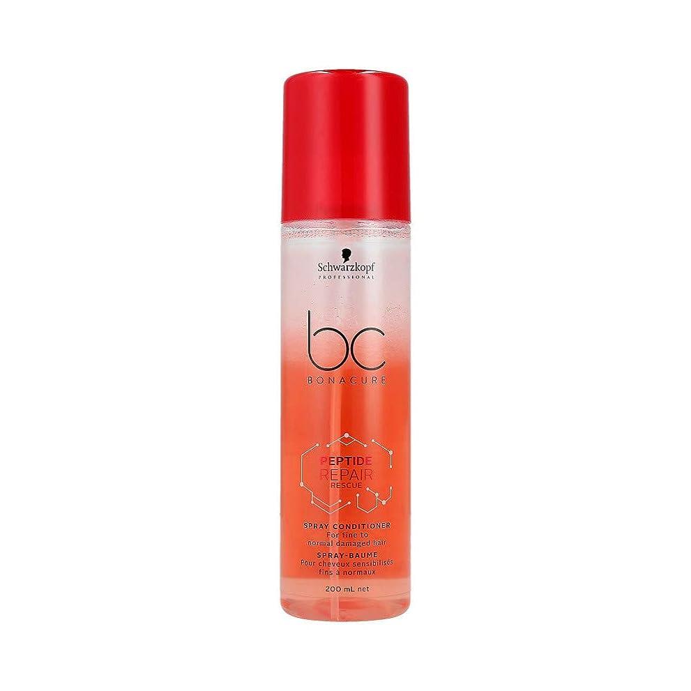 めまいコアタワーシュワルツコフ BC ペプチド リペア レスキュー スプレー コンディショナー Schwarzkopf BC Bonacure Peptide Repair Rescue Spray Conditioner For Fine To Normal Damaged Hair 200 ml [並行輸入品]