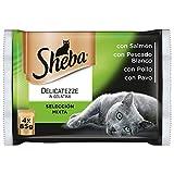 Sheba Delicatezze Comida Húmeda para Gatos Selección Mixta en Gelatina, Multipack (13 cajas x 4 sobres x 85g)