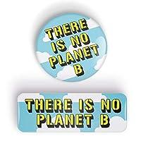 THERE IS NO PLANET B Anstecknadel oder Kühlschrankmagnet, pin badge button