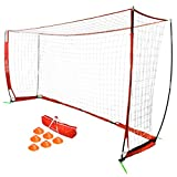 GoSports 12' Elite Soccer Goal - Play & Train Like The Pros - Includes 1 12'x6' Goal, 6 cones & Carrying Case
