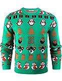 Weihnachtspullover Winter Pullover mit Rundhalsausschnitt verschiedene Motive