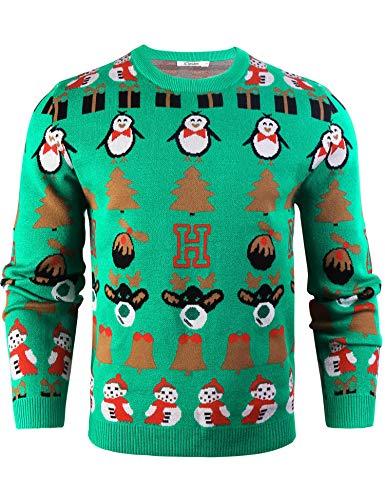 Sykooria Pullover Knit Cotone Uomo, Maglione Uomo Basic Scollo V