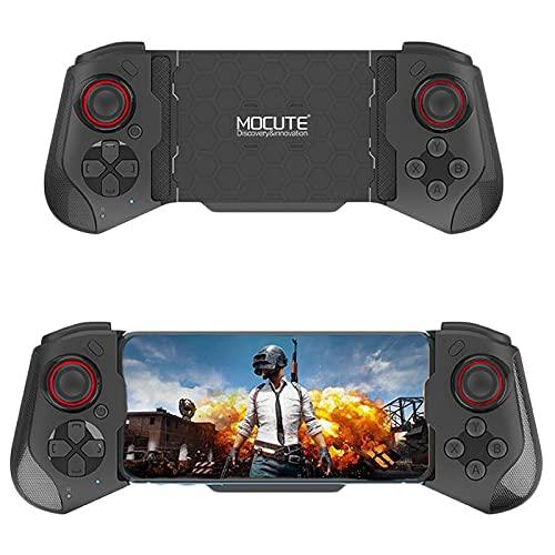 OBEST Controlador de Juegos Móvil Inalámbrico, Bluetooth Controller, Compatible con IOS y Android, Pc, Tv, Retráctil Mando Movil