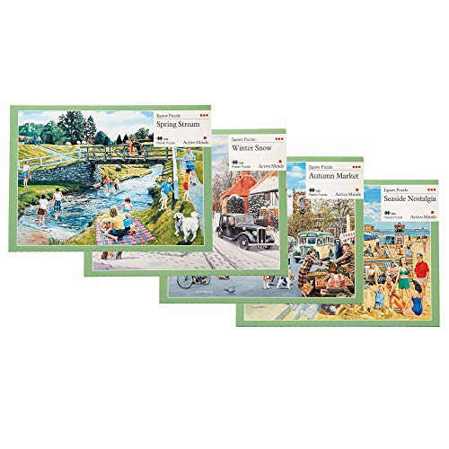Active Minds 35 Piece Jigsaw Puzzle: Specialist Alzheimer's/Dementia Activities and Games (Variety Pack)