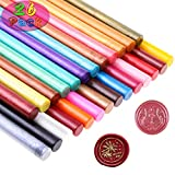 Sealing Wax, Paxcoo 26pcs Wax Seal Sticks, Glue Gun Sealing Wax for Wax Seal Stamp, Wax Letter Sealing and Crafts (Assorted Colors)