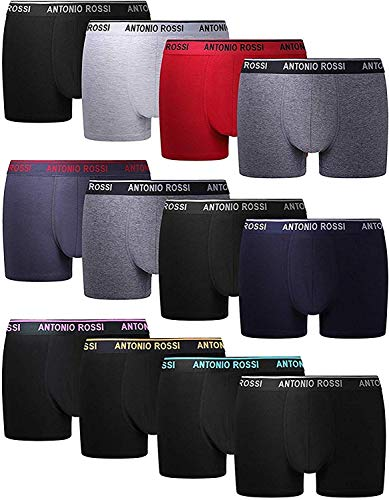 FM London Herren Fitted Boxer Hipster, Mehrfarbig, XX-Large (12er Pack)