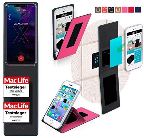 reboon Hülle für Allview Soul X5 Style Tasche Cover Case Bumper   Pink   Testsieger