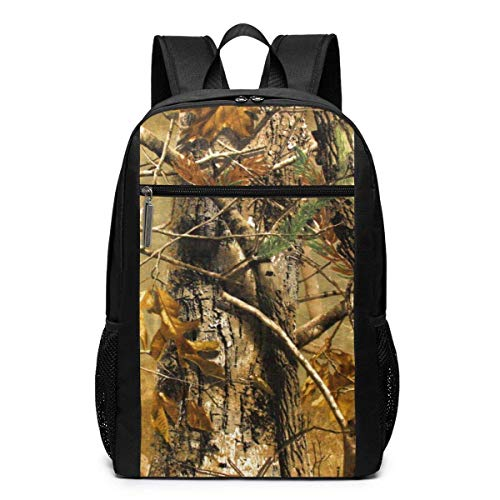 NA mochila clásica ligera de poliéster I Like Ejercicio Pinecones, mochila escolar de viaje, universidad, mochila para computadora portátil de 17 pulgadas, color Camuflaje de caza, tamaño talla única