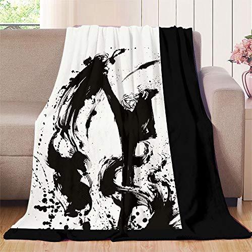XavieraDoherty Einteilige Manga-Sanji-Bettdecke, 180 x 230 cm, extra gemütlich, maschinenwaschbar, bequeme Heimdekoration.
