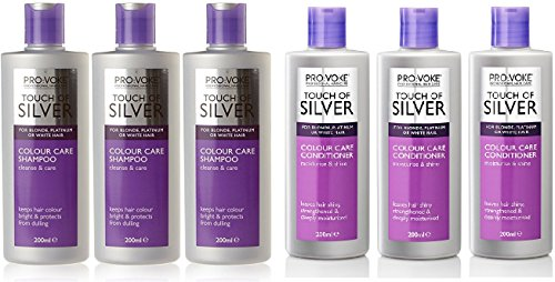 Touch of Silver Colour Care Shampoo & Conditioner 200ml x 3