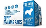 Bulldogology Premium Puppy Pee Pads with Adhesive Sticky Tape (24x24) Large Dog Training Wee Pads with 6 Layer Extra Quick Dry Bullsorbent Polymer Tech (100-Count, White)