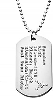 Cartoon Network Seal Team Rick's, Officially Licensed Premium Quality Dog Tag Pendant with Ball Chain