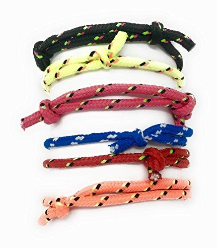 72 Bulk Braided Friendship Bracelet 6 Color Assortment