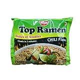 Nissin Top Ramen Instant Noodle Soup (Chili Flavor) - 3oz (Pack of 8)