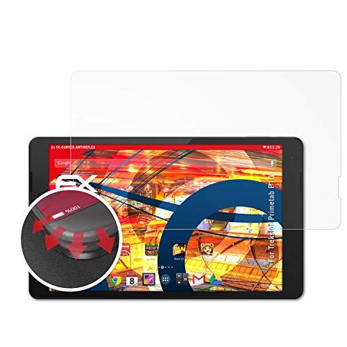 atFolix Schutzfolie kompatibel mit Trekstor Primetab P10 Folie, entspiegelnde & Flexible FX Bildschirmschutzfolie (2X)
