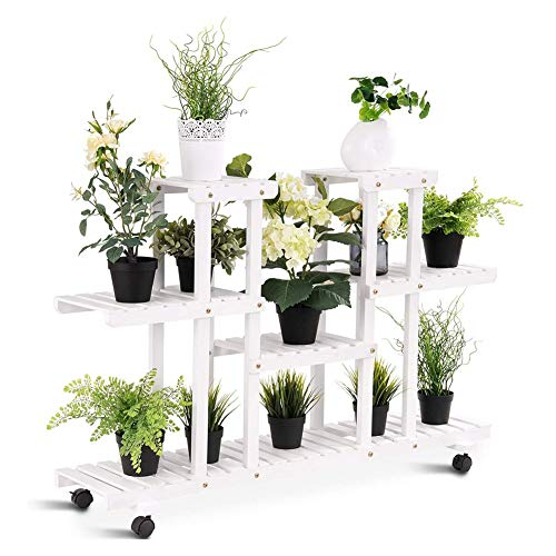 N / A LINLINZ Abnehmbar Pflanzenregale Blumenregal, 4-Tier Regal, Anzeige 8-Blumentreppe Regal, Mit...