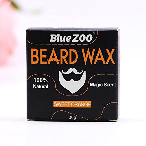 Cera para barba, bálsamo para bigote de 4 sabores, cuidado natural para barba, crema hidratante orgánica, 30 g