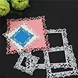 Geometric Shape Cutting Dies for Card Making, ZECNG Carbon Steel Heart Round Rectangle Die Cuts Stencils Tool for Paper Crafting/Scrapbooking/Embossing/Photo Album Decor/DIY Craft/Gift(01)