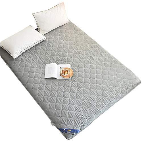 GFYL Tatami Matratze, japanische verdicken Futon Tatami Matratze, Bodenmatte, Kissen Matratze Pad, rutschfeste Schlafkissen Faltbare Matratze für Schlafsaal Schlafzimmer,Grau,150 * 200CM(59 * 78inch)