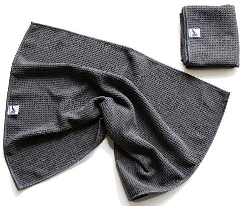 Activity4Dogs 2er Set Hunde-Handtuch spezielles Schmutz-Tuch Microfaser sehr saugfähig sehr geruchsarm schnell trocknend platzsparend
