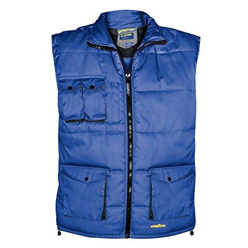 Goodyear 66558. Weste Gepolstert 65% Polyester 35% Baumwolle Royal, Mehrfarbig, 4x l
