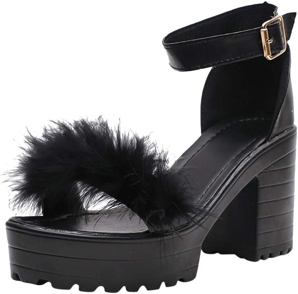LIUguoo Sandals for Women Wide Width,Women's Wedge Sandals Casual Open Toe Ankle Strap Espadrilles Heels Sandal Shoes,Sandals