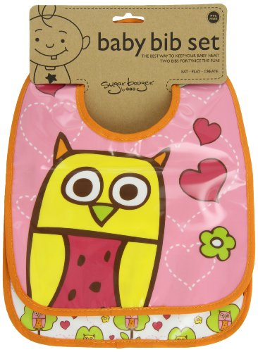 Sugarbooger Mini Bib Gift Set, Hoot, 2 Count
