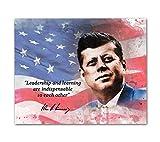 John F Kennedy Zitate Wandkunst, ungerahmt, 20,3 x 25,4 cm