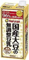 マルサン 国産大豆の無調整豆乳 1000ml ×6本