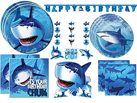Shark Splash Deluxe Party Kit Image