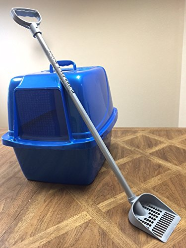 Purrr-FECT Scoop 35in Tall, Standing Litter Scoop, Long Handle Litter Scoop is The Perfect Scoop for Cats and Chicken Coops, Made in The USA !