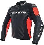 Dainese Racing 3 - Giacca da motociclista in pelle, da uomo, da sportivo, per tutto l'anno