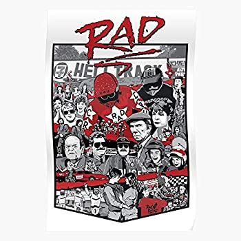 ADRIAFE Racing 1980S Rad Taylor Movie BMX Cru Jones 80S Bart | Impressive Posters for Room Decoration Printed with The Latest Modern Technology on semi-Glossy Paper Background