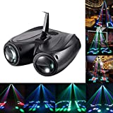 U`King Stage DJ Lights 128 LED Pattern Sound Activated Party Light Moonflower Strobe Lighting Effect for Dance Club Wedding Disco Events